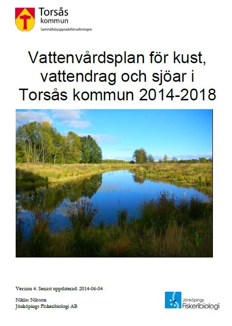 Framsida vattenvårdsplan Torsås kommun